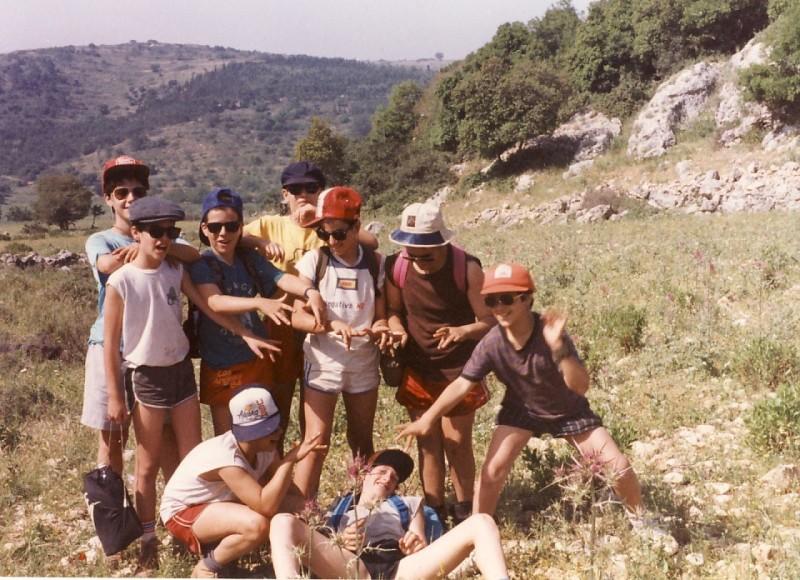 תמונה 6- 117 - קבוצת אתרוג - מחנה סיירים 1990 - יובל כהן יפתח שפירא יואב ברעם איה אלדן אורי ענבר גל רוטמן דפנה יסעור אילן אדוט