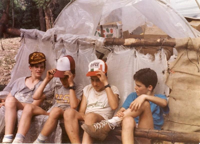 תמונה 8- 117 - קבוצת אתרוג - מחנה סיירים 1990 - יואב ברעם אורי ענבר גל רוטמן ארנון כץ