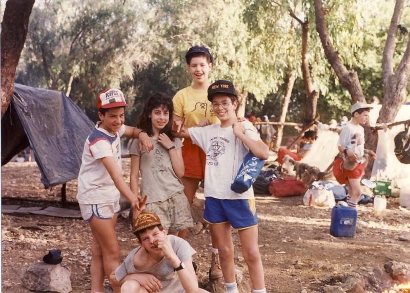 תמונה 3- 117 - קבוצת אתרוג - מחנה סיירים 1990 - איה אלדן איתי קוחלי תמי רוזנטל יואב ברעם ארנון כץ