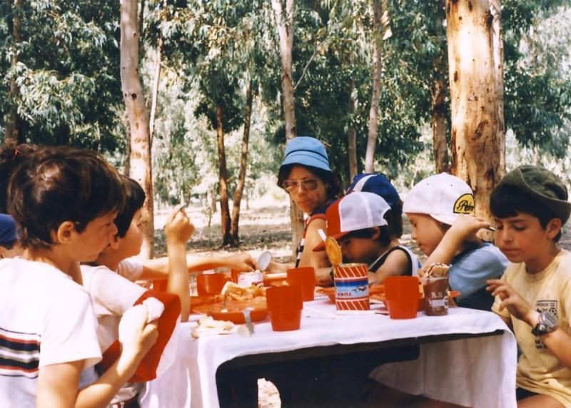 תמונה 5- 55 - קבוצת אתרוג בטיול 1985 - ורדה הראל יואב ברעם