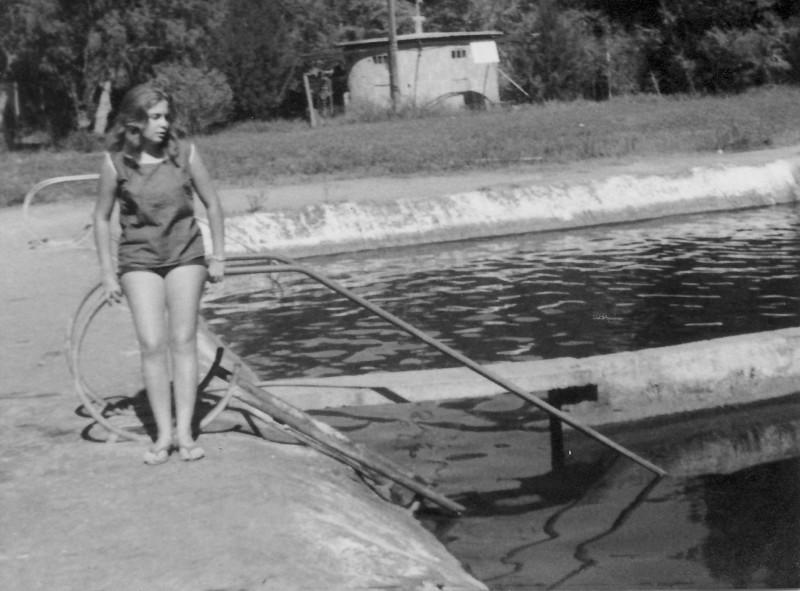 תמונה 8- 977 -ג'ש 1965-קב' גפן-בבריכת השחייה במוסד-יפה ביכלר-בן-זאב