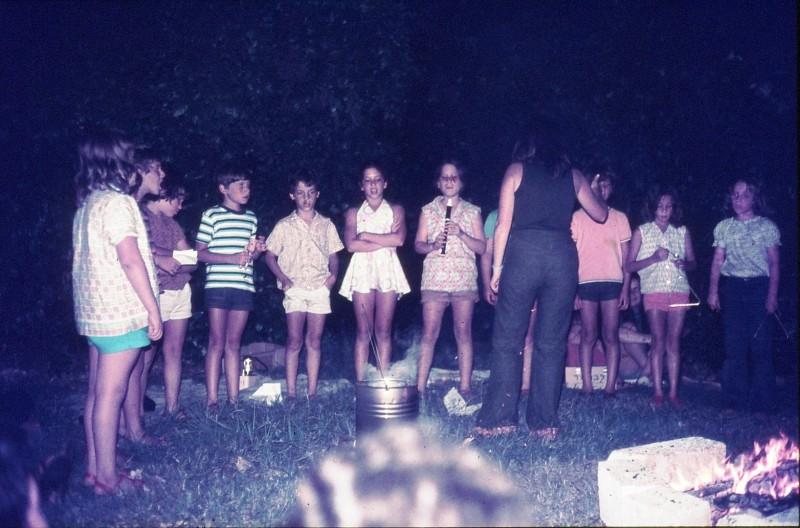 שקופית 7- 309 -ג'ש 1974-קבוצת דקל-מסיבת סיום שנה-זמיר סיון יניב גולן נעמה פט אפרת בראון נועה אלוני הדר אלון