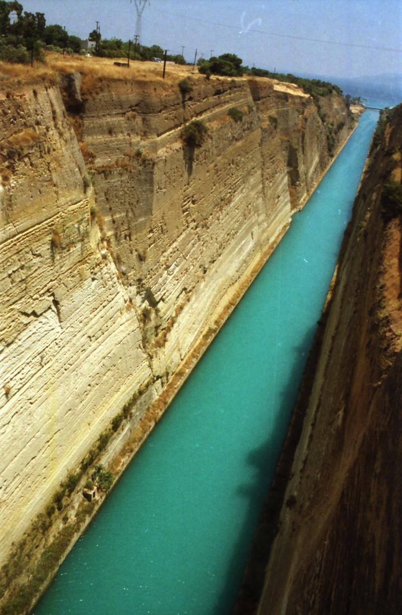תמונה 6- 304 -גש 1991-בטיול ליוון-קב חורש-תעלת קורינטוס