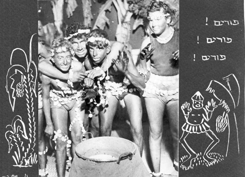 תמונה 4- 37 -ג'ש 1953-קבוצת נשר-פורים-עמוס גורן אברהם בנדק רן כהן