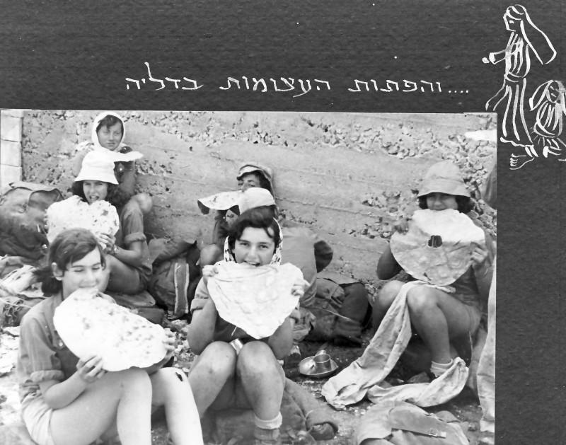 תמונה 8- 37 -ג'ש 1953-קבוצת נשר-בטיול בכרמל-ניצה סימון רינה פרנק