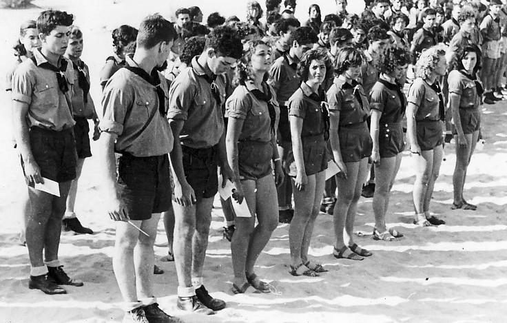 תמונה 12- 309 - קבוצת נשר במפקד שומרי שנות ה-50