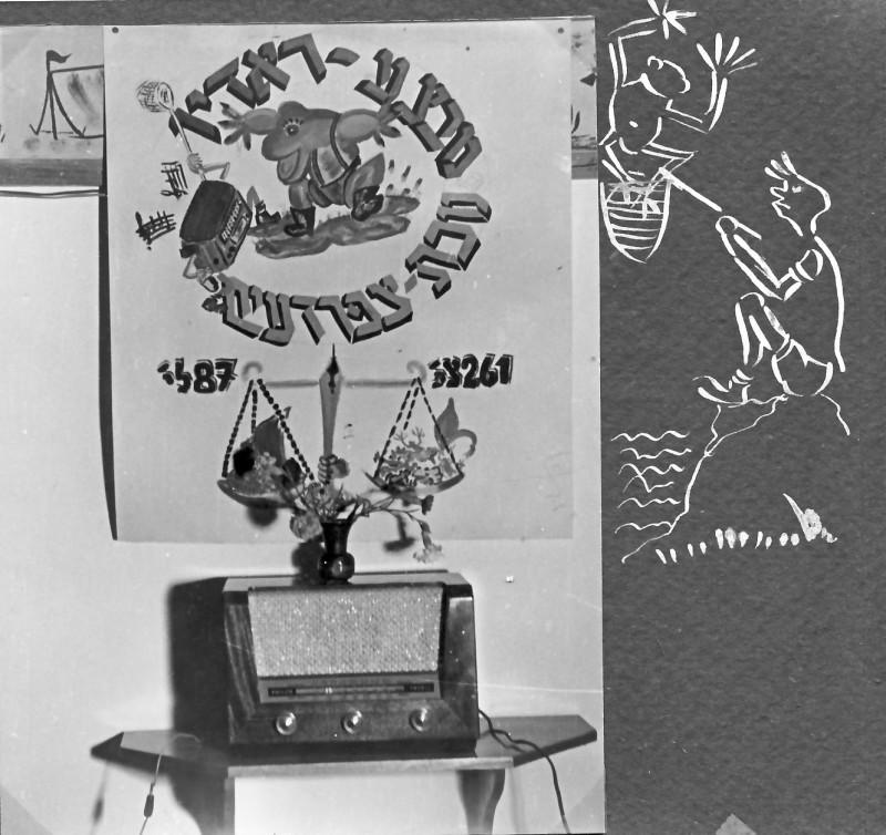 תמונה 13- 37 -ג'ש 1953-קבוצת נשר-מבצע איסוף צפרדעים לקניית רדיו