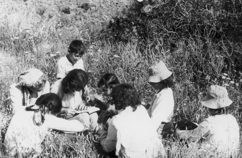 תמונה 13- 218 - קבוצת נשר מגדירים צמחים - שנות ה-40-50
