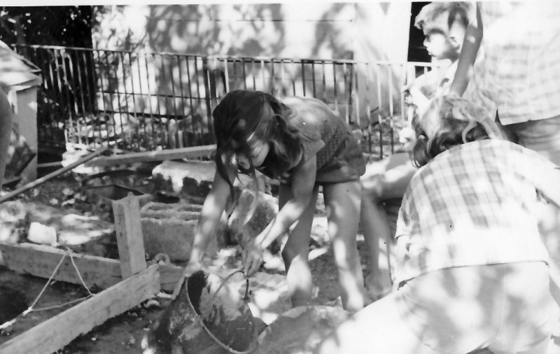 תמונה 11- 344 - קבוצת סנונית בונים במשק ילדים 1955 - אלון מרגלית נירית שי