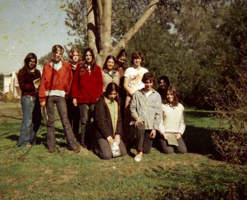 תמונה 28- 260 -ג'ש 1976-9-נערי קבוצת שדה במוסד