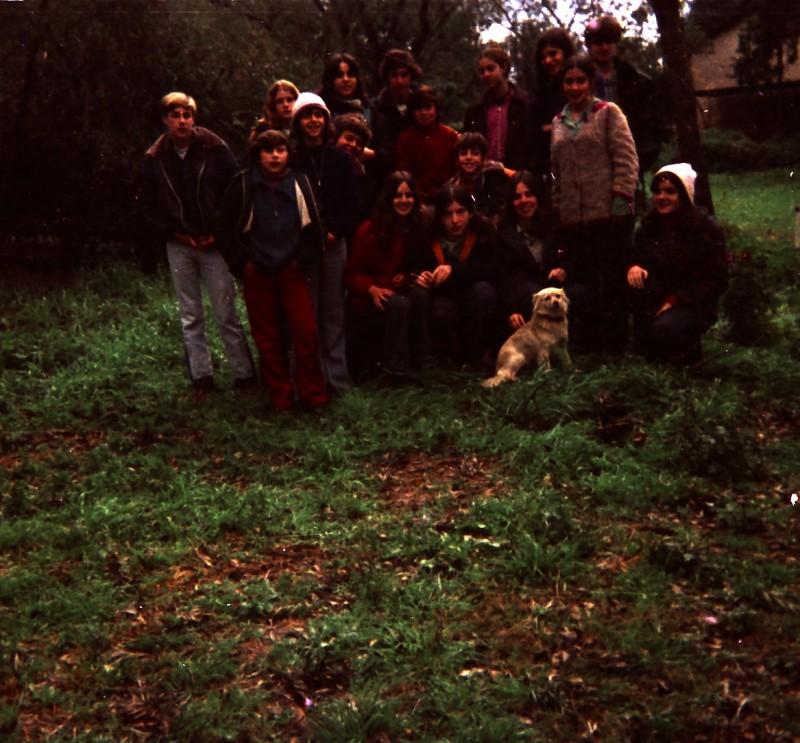 תמונה 20- 260 -ג'ש 1976-9-נערי קבוצת שדה במוסד