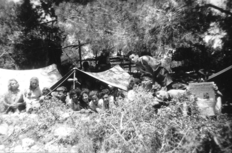 שקופית 4- 201 -ג'ש 1950-3-קב' יסעור מחנה תנועה-שמות בסכום