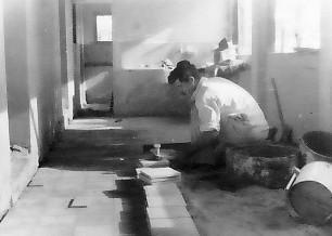 תמונה 1- 325 - שפוץ וריצוף בית התינוקות הישן - אברשקה יקיר - יסעור שנות ה-40-50