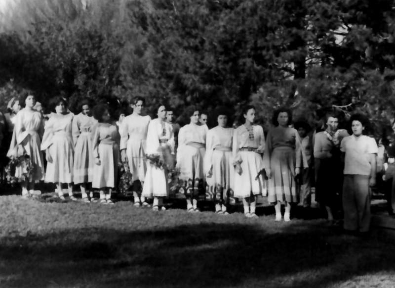תמונה 16- 197 - בנות שיבלים ויסעור בחג הביכורים - שנות ה-50