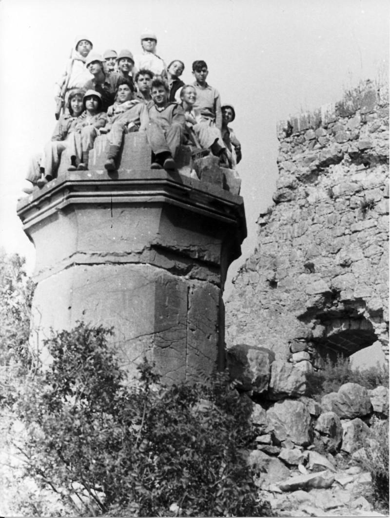 תמונה 15- 18 - קבוצת כפירים בטיול שנות ה-60