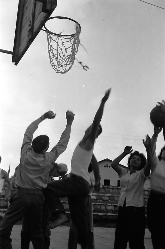 תמונה 7- 646 - ג'ש 1957-קב' ארז במגרש כדורסל
