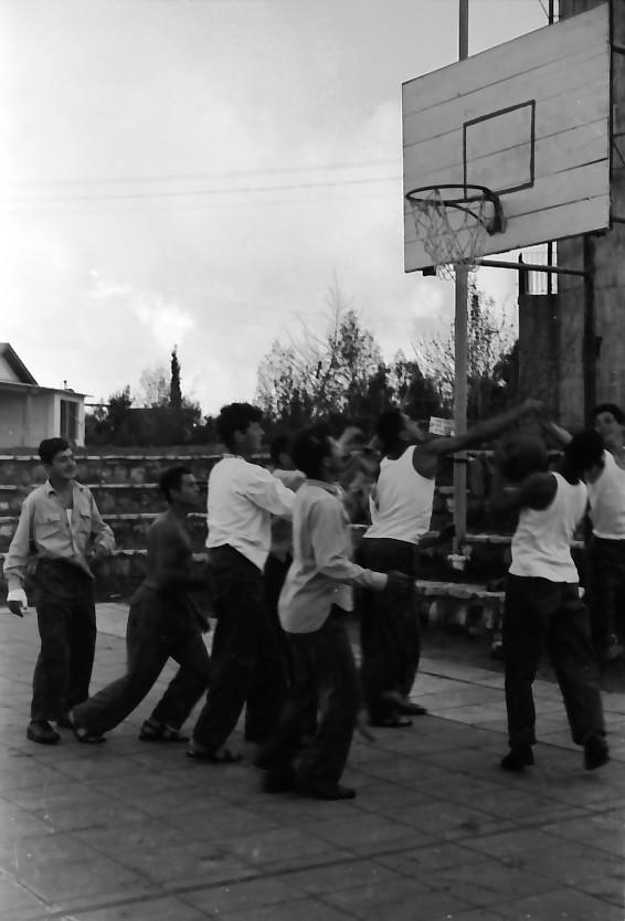 תמונה 11- 646 - ג'ש 1957-קב' ארז במגרש כדורסל
