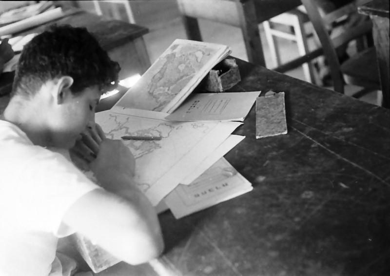 תמונה 14- 611 -ג'ש 1955-קב' ארז-שינה בכיתה