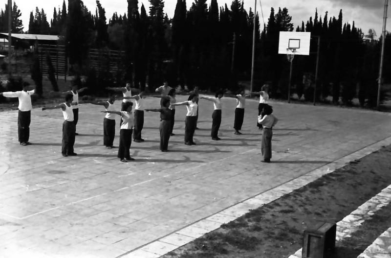 תמונה 18- 646 - ג'ש 1957-קב' ארז בשעור התעמלות