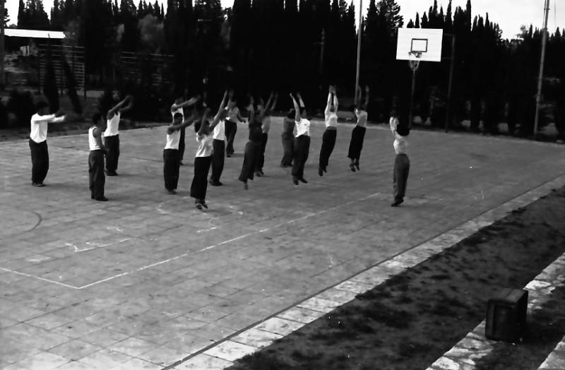 תמונה 19- 646 - ג'ש 1957-קב' ארז בשעור התעמלות