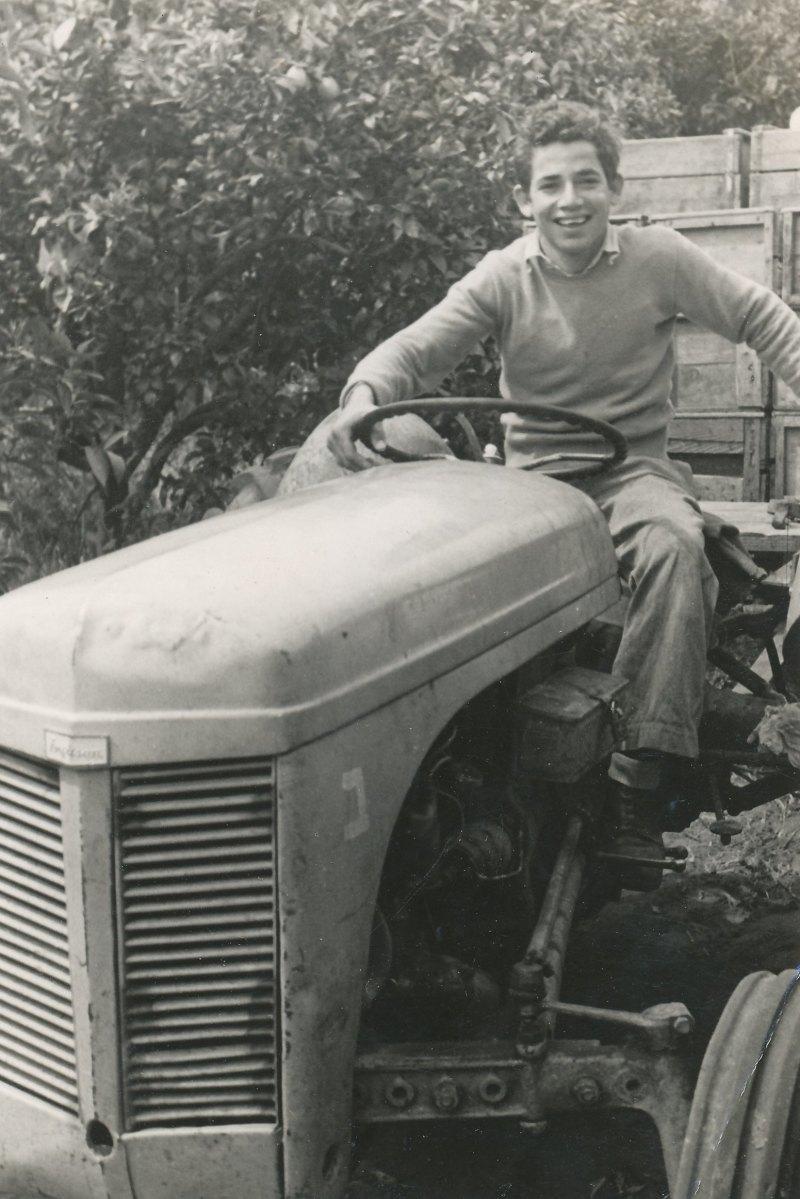 תמונה 19- 908 -ג'ש 1957-קב' ארז-יעקב קסטל עובד בפרדס