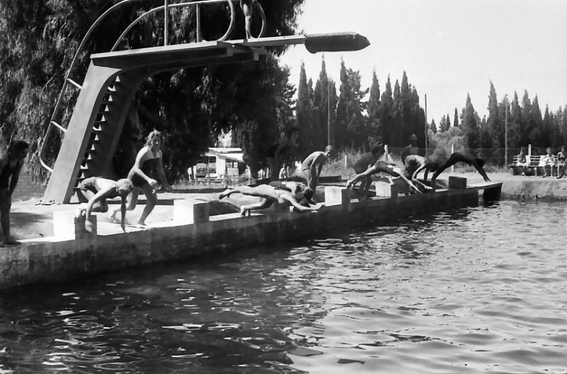 תמונה 23- 611 -ג'ש 1955-קב' ארז-בבריכת השחייה במוסד