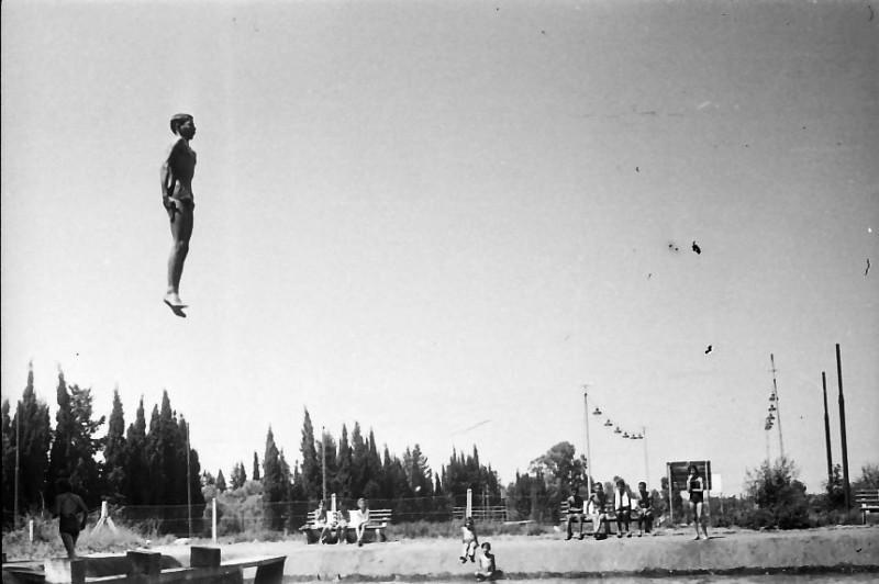 תמונה 28- 611 -ג'ש 1955-קב' ארז-בבריכת השחייה במוסד