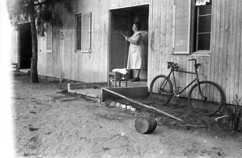 תמונה 31- 611 -ג'ש 1955-צריפי המגורים-פרחה הדר-מטפלת