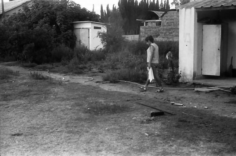 תמונה 34- 611 -ג'ש 1955-הכיתה באיזור האולפן-ברקע-המתבן