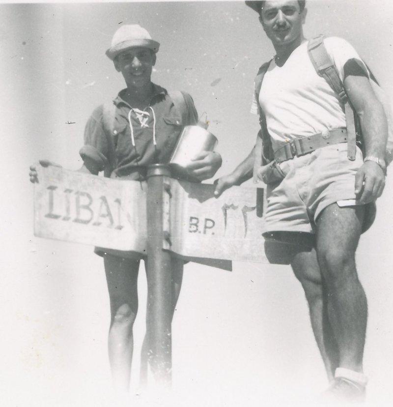 תמונה 49- 908 -ג'ש 1957-קב' ארז-בטיול-אליהו בכר יוסף טל