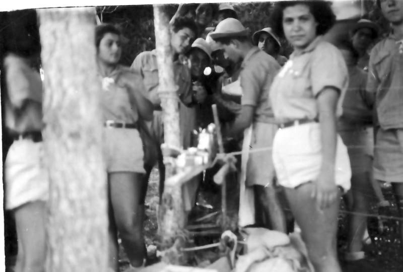 תמונה 2- 335 - הנוער התורכי במחנה צופי שנות ה-40-50