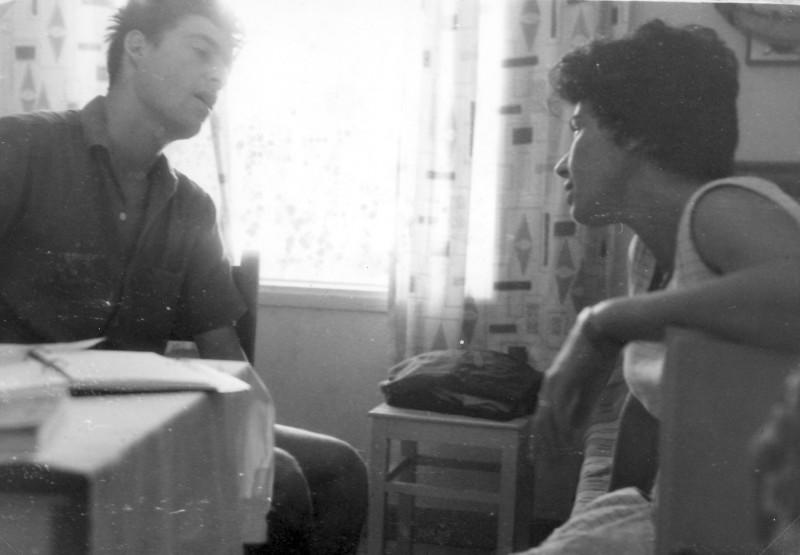 תמונה 11- 966 -ג'ש 1965-6-קב' רקפת-המטפלת מרים פרנק ובני עמיר