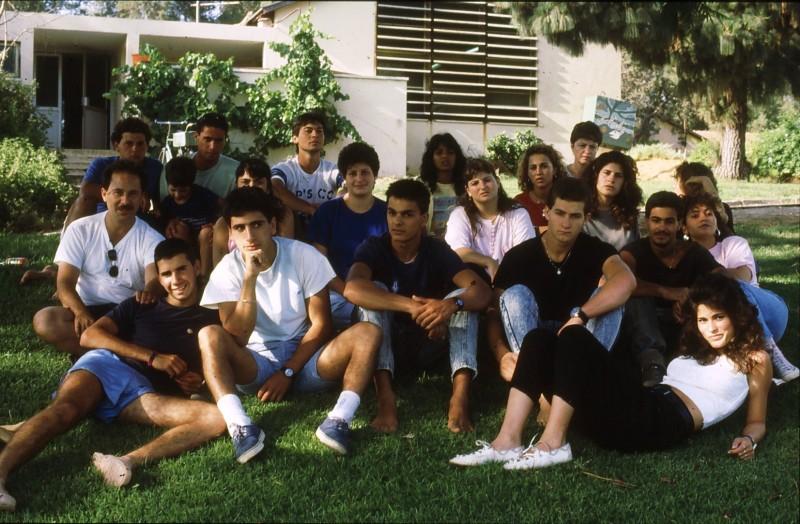 שקופית 27- 192 -גש 1988-קב לבנה-בסיום המוסד-עם ישראל רפפורט ושושנה קישינבסקי