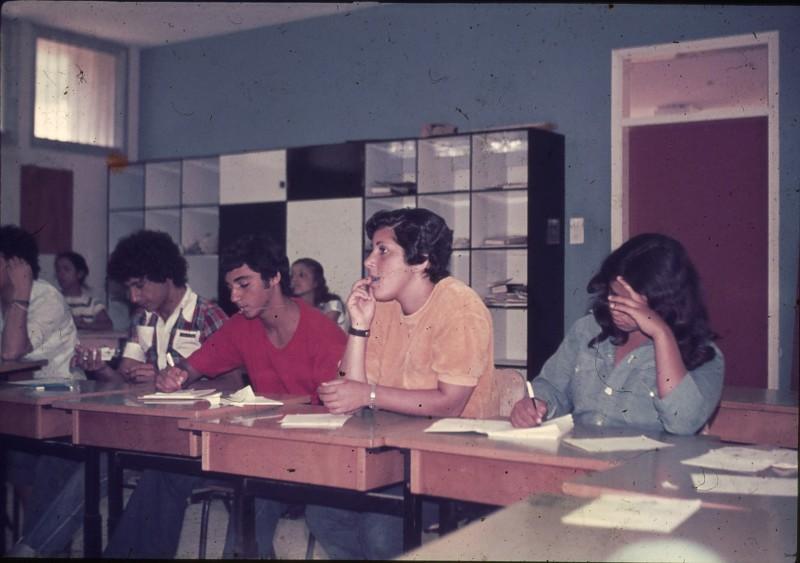 שקופית 6- 181 -ג'ש 1975-8-מוסד חינוכי-קב' להבה-בכיתה