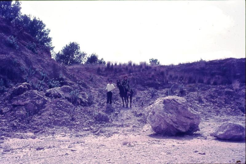 שקופית 40- 172 -ג'ש 1974-6-ילדי קב' סלע על סוסים במחצבה בדמיירה
