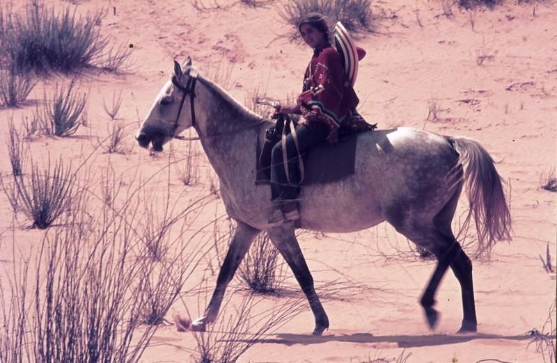 שקופית 22- 172 -ג'ש 1974-6-אריאלה-ראלי מרגלית על סוס בחולות