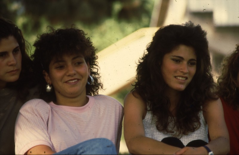 שקופית 19- 192 -גש 1988-קב לבנה-בסיום המוסד- פנינה וטלי