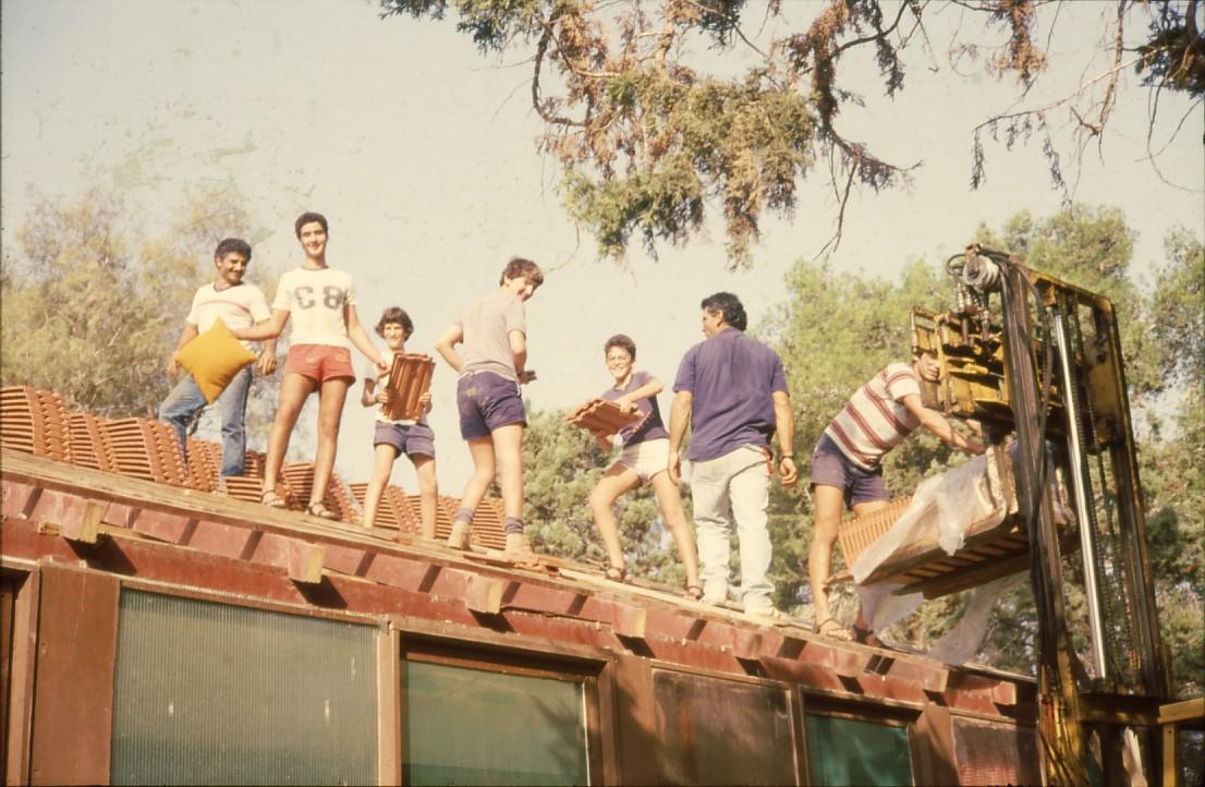 שקופית 66- 231 -ג'ש 1994-המוסד-כסוי חדר אכל ברעפים