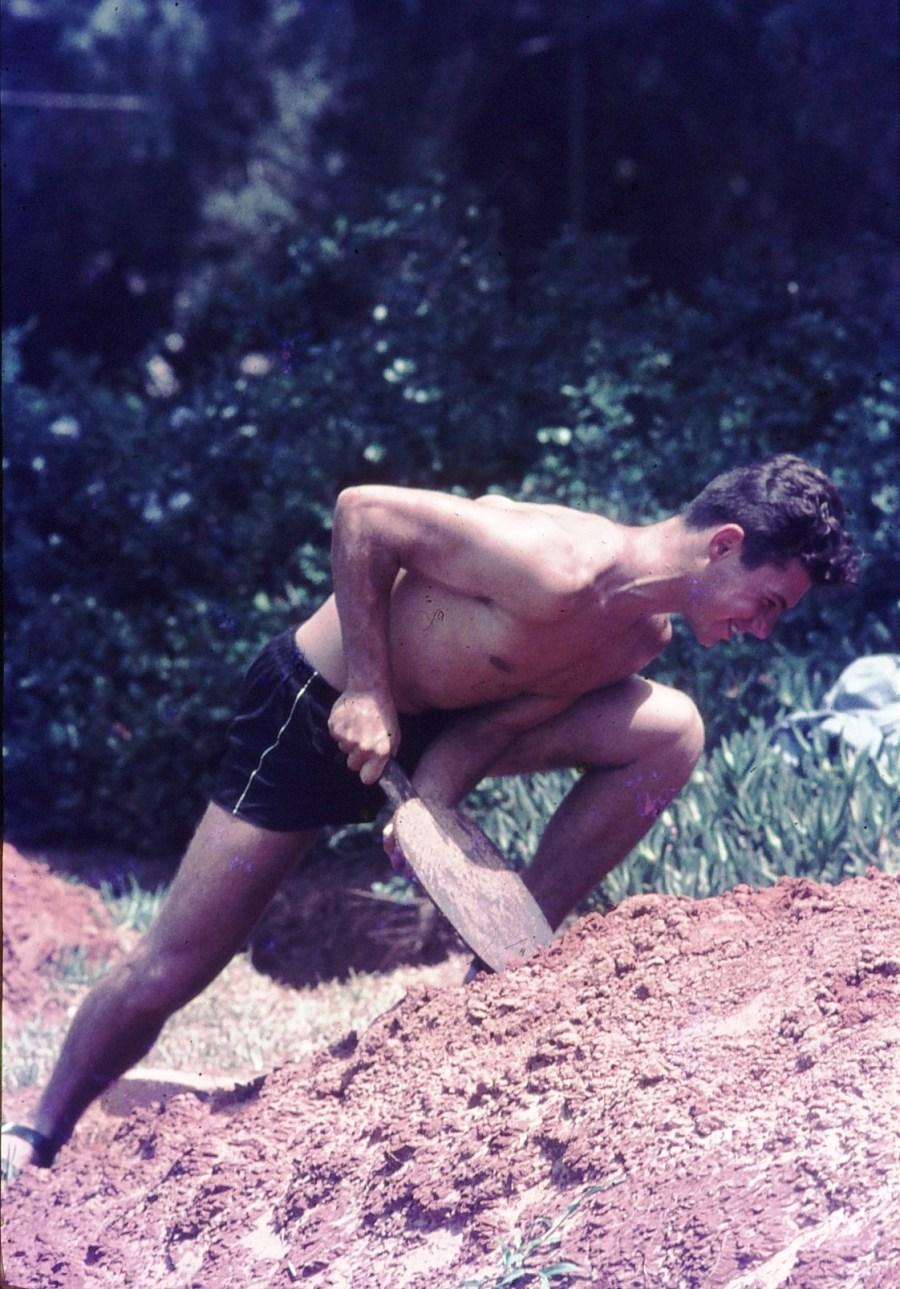 שקופית 17- 296 -ג'ש 1967-קב' חבצלת-חפירת שוחות לפני מלחמת ששת הימים-בני לפידות