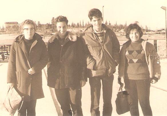 ביקור בכנסת במסגרת הנושא המשותף: סמדר אשד ספי מרגלית ישראל רפפורט ובלתי מזוה 1967