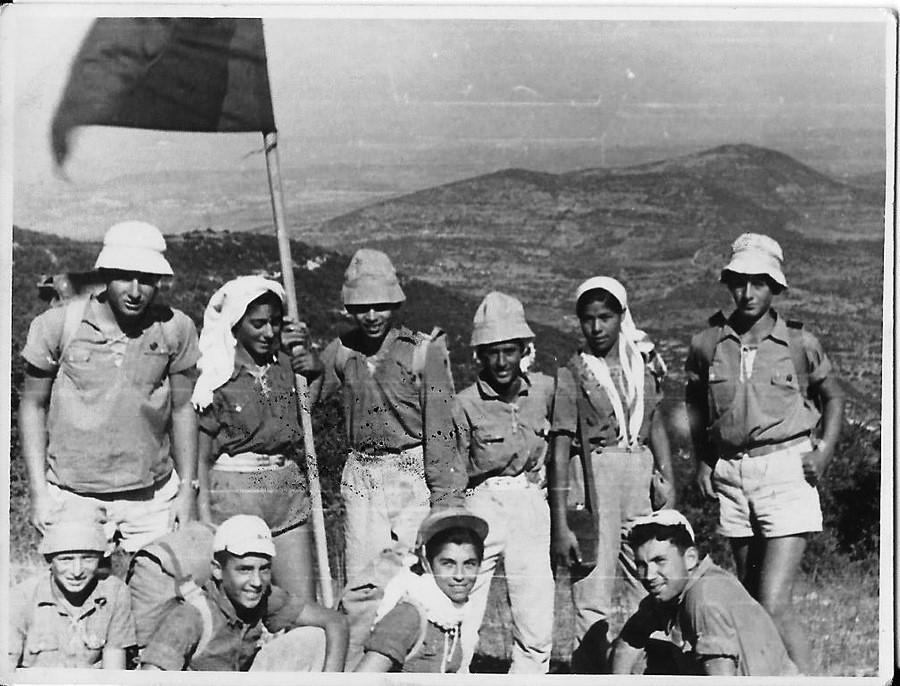 על פסגת הגרמק 1955