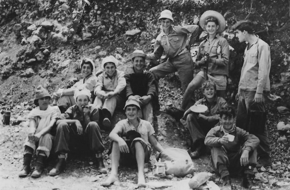 טיול פסח 1955 עם קבוצת נשר