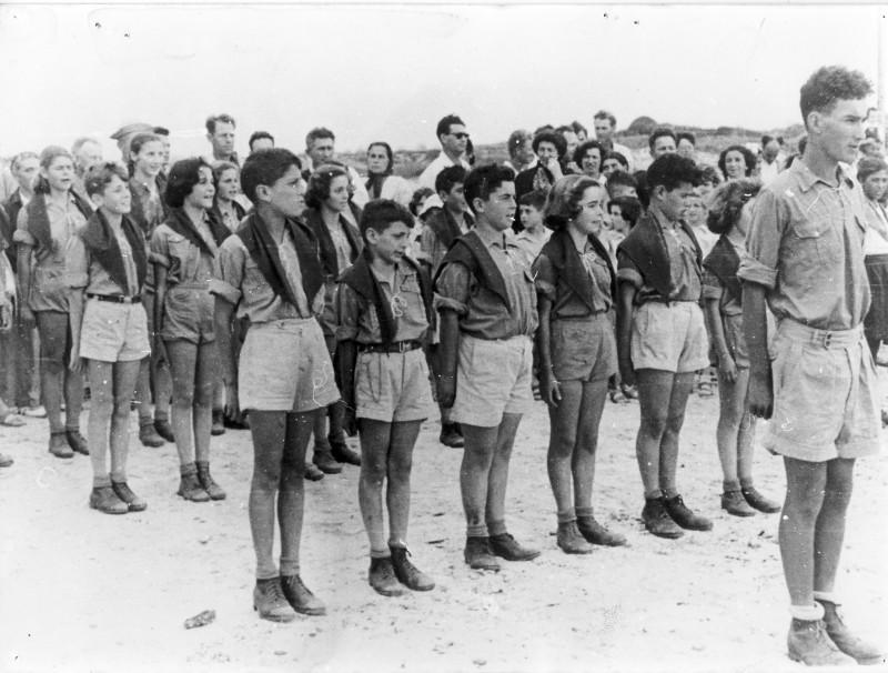 תמונה 12- 39 -ג'ש 1950-קבוצת אילה-כניסה לתנועה-פרטים בסכום