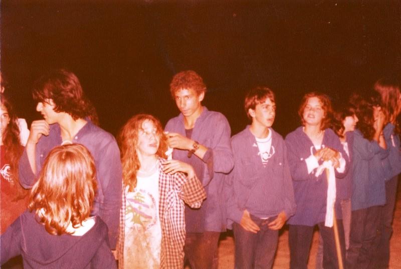 תמונה 2- 89 - השבעת קבוצת אור לתנועה 1983 - אלה זיו צליל סיון גלי בראון