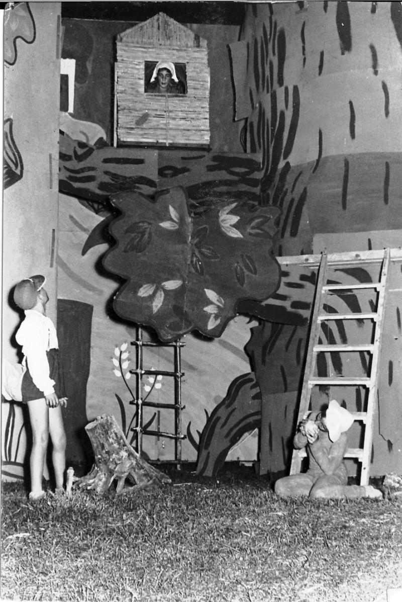 תמונה 4- 67 - הצגת אלומה לסיום שנת הלימודים שוכני האלון כולם שנות ה-50
