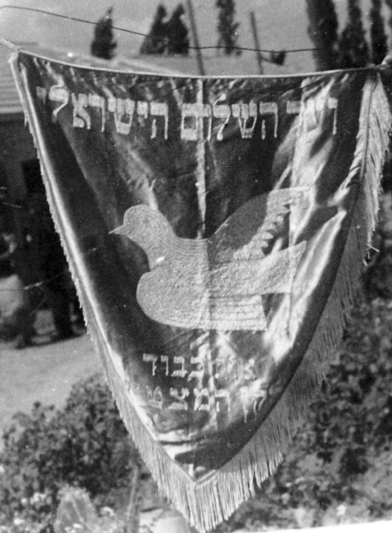 תמונה 18- 235 - דגל ועד השלום בישראל - שנות ה-40-50