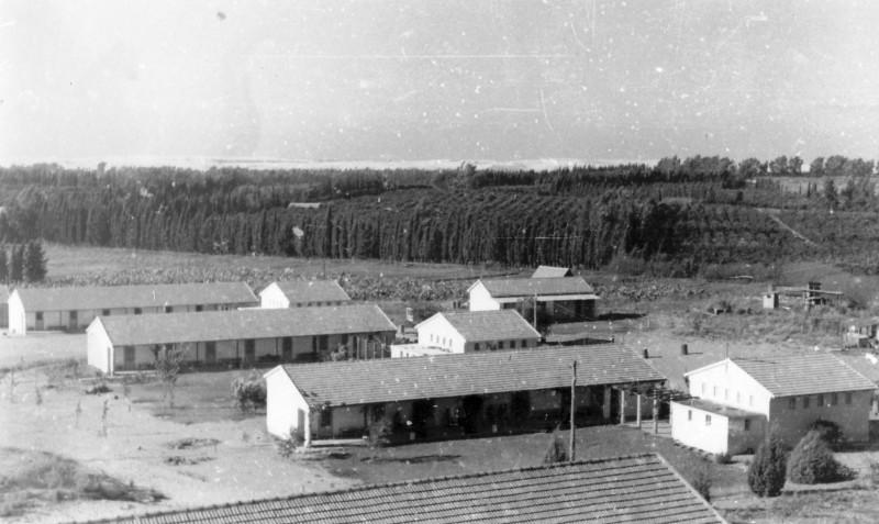 תמונה 1- 235 - שלושת בתי המוסד הראשונים בית המגורים למבוגרים-ברקע משק המוסד-שנות ה-50-פרטים בסיכו