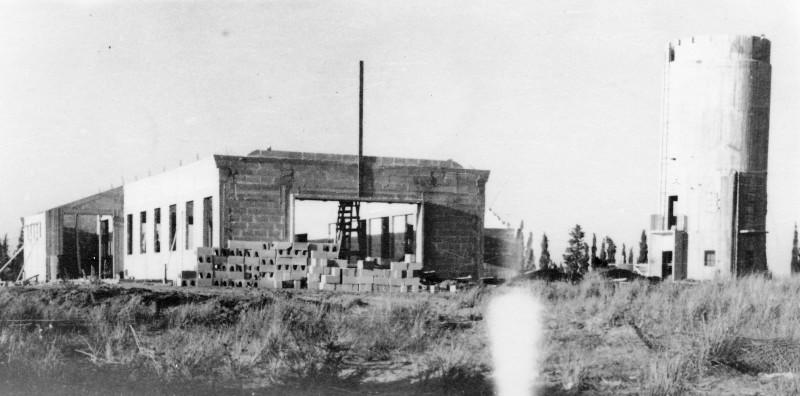 תמונה 4- 235 - המגדל במוסד ובניית חדר האכל במוסד - תחילת שנות ה-50