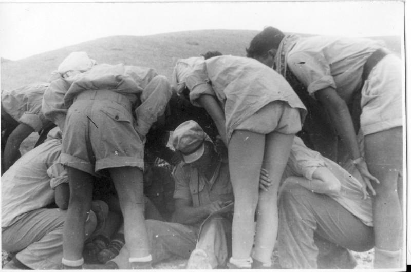 תמונה 5- 408 - קבוצת עופר - טיול למצדה 1954 - דודיק פרלמוטר
