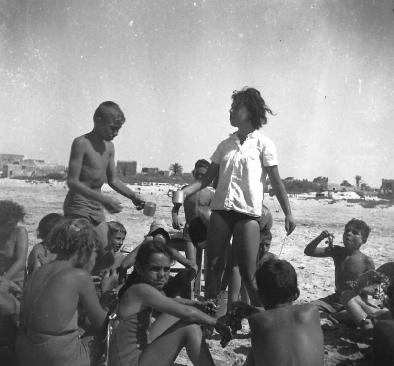 תמונה 54- 411 - ילדי קבוצת עופר בקייטנה בטנטורה 1947-8 - שמות בסכום